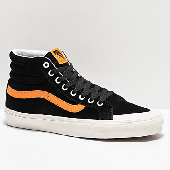 NEW Men's 13 VANS Sk8 Hi 138 Black Suede Shoes